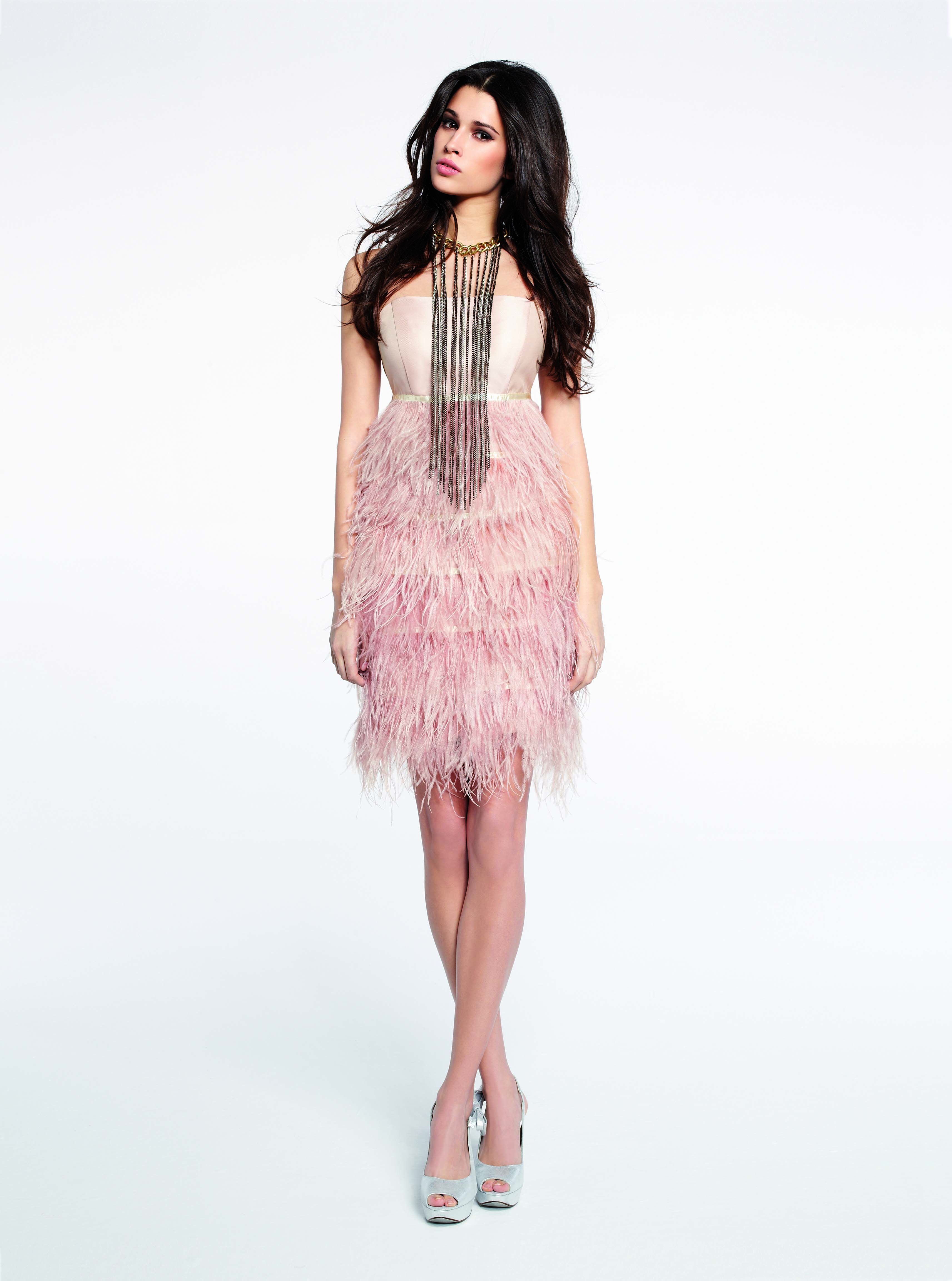 Comprar online vestido fiesta plumas